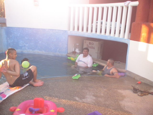 Vicente and Family Having Pool Time